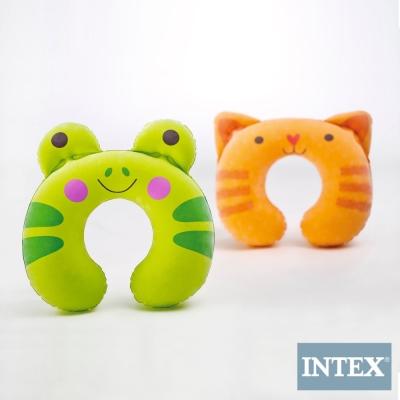 INTEX 兒童充氣護頸枕-動物造型隨機出貨(2入)