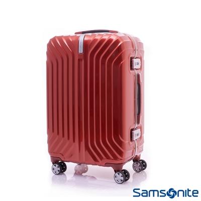 Samsonite新秀麗-23吋-TRU-FRAME-PC時尚硬殼鋁框行李箱-火焰橙
