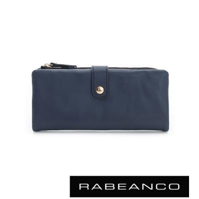 RABEANCO-迷時尚系列多格層拉鍊長夾-墨水藍