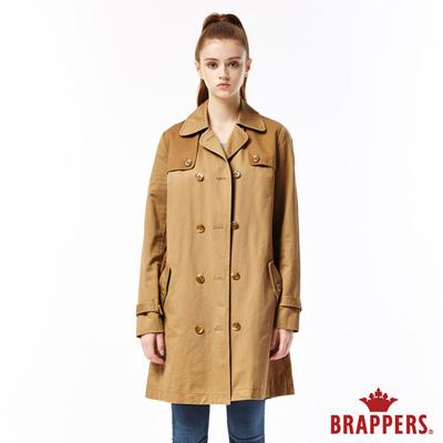 BRAPPERS 女款 雙排釦風衣外套-卡其