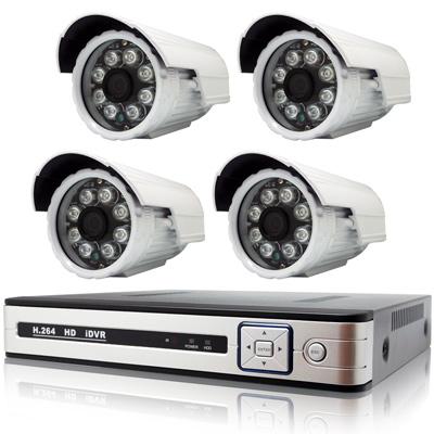 奇巧 AHD 1080P 4路4聲監控系統-含SONY 200萬畫素8陣列燈攝影機