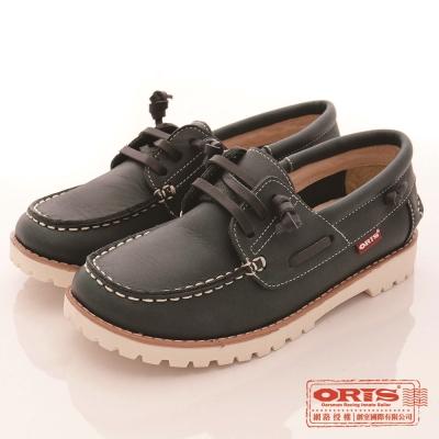 ORIS女款 真皮 超柔軟 休閒懶人鞋(藍SA17686N04