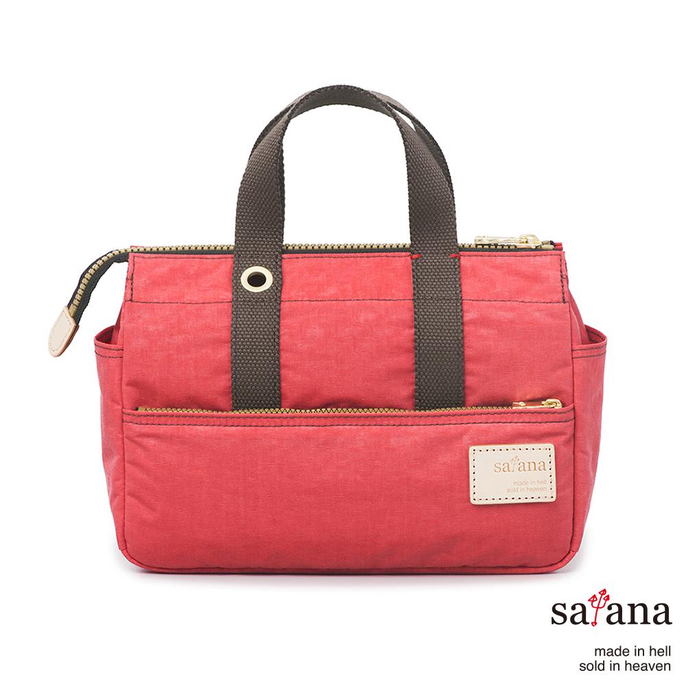satana - 輕巧手提包 - 漿果紅