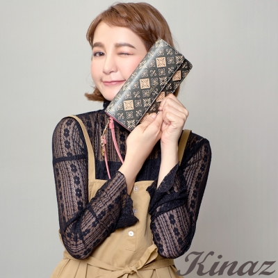 KINAZ 星星誓約掀蓋長夾-銀調浪漫-流星雨系列