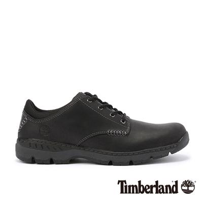 Timberland-男款黑色素面綁帶低筒休閒鞋
