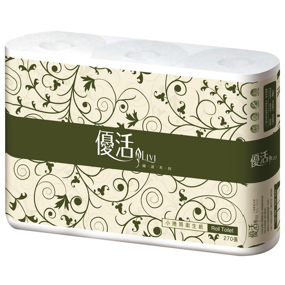 優活優質小捲筒衛生紙(270節x6捲)/串