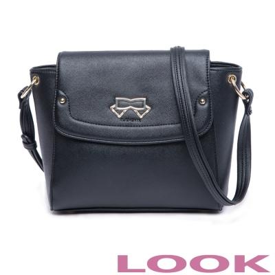 LOOK - Olivia奧莉薇亞系列 斜背包-經典黑