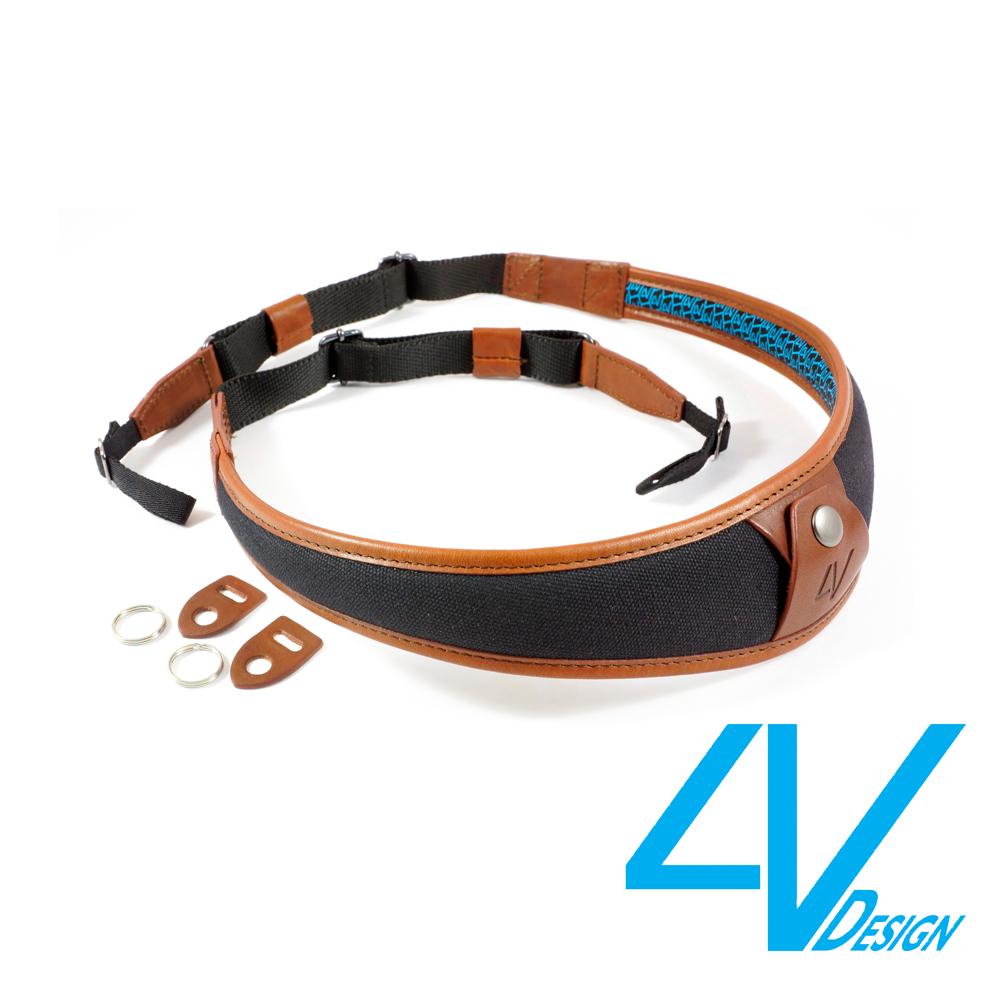4V ALA系列相機背帶 LU-CV0923-黑/棕色(L)