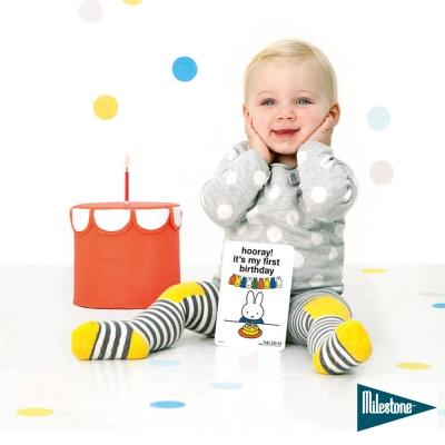 荷蘭 MILESTONE 米飛兔系列- 寶寶週歲幸福回憶小卡(中英文版)