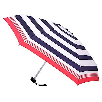 2mm Mini輕巧五折晴雨口袋手開傘 (紅藍條紋)