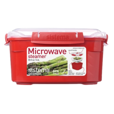 【Sistema】紐西蘭進口方型微波加熱保鮮盒2.4L