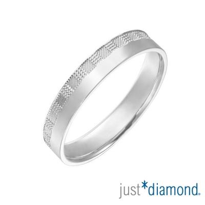 Just Diamond PT950鉑金戒指(3mm)-市松