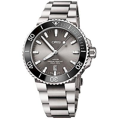 Oris豪利時 Aquis 時間之海鈦合金潛水300米日期機械錶-43.5mm