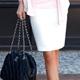 【N.C21】緞面滾邊氣質OL窄短裙 (共六