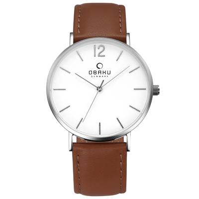 OBAKU 精粹重現十週年限定真皮錶款-V197GXCWRN/40mm