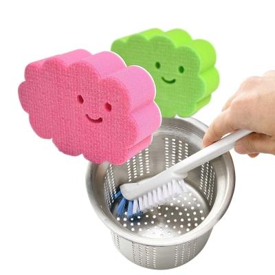 特惠組-日本AISEN黏貼式雲朵浴室海綿刷-排水口