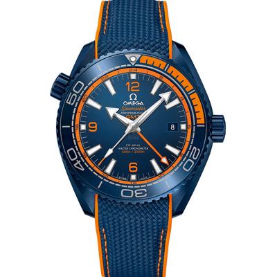 Omega 歐米茄PLANET OCEAN 600米藍色陶瓷同軸擒縱GMT腕錶45.5mm