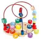 木頭玩具 一點 多功能拆裝小魚繞珠 2606