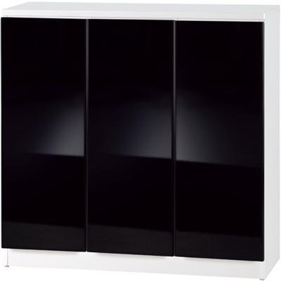 《夢想家》威尼斯3尺三密門鏡面PU書櫃