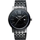 VOGUE 尊爵時尚羅馬腕錶-IP黑/40mm