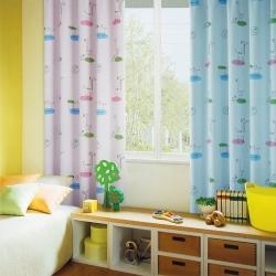 布安於室-動物天堂遮光單層穿管式窗簾-半腰窗(寬200*高165cm)