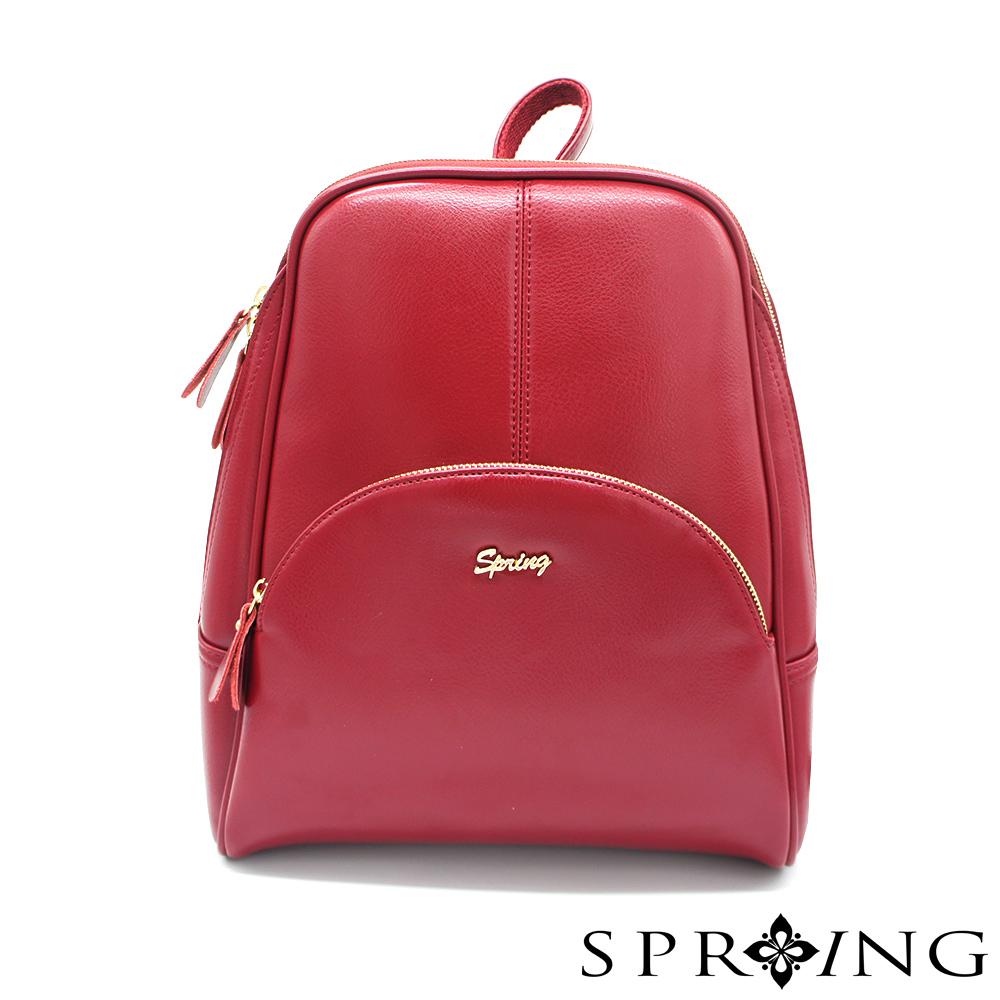 SPRING-極致奢華凡爾賽後背包-貴族紅