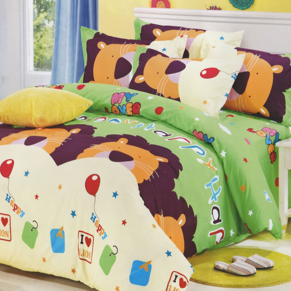 GALATEA-童話世界 柔絲絨雙人加大床包兩用被四件組