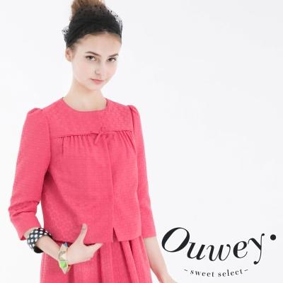 OUWEY歐薇-緹花香風短版外套-共2色