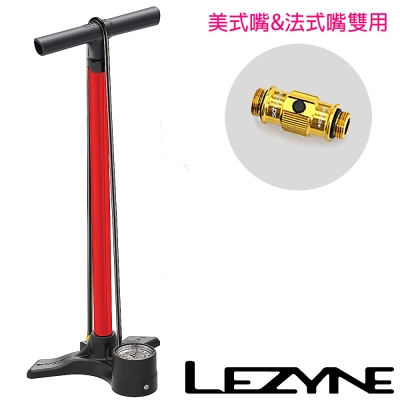 LEZYNE-MACRO FLOOR DRIVE直立式打氣筒(紅)