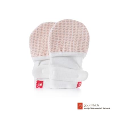 美國 GOUMIKIDS 有機棉嬰兒手套 (點點-橘色)