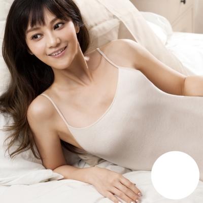 華歌爾 精梳棉 系列 M-LL  細肩帶 蘭姿(甜蜜白)