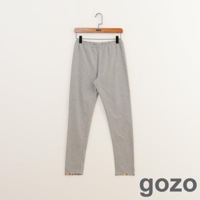 gozo-趣味刺繡圖型素面內搭褲-共3色