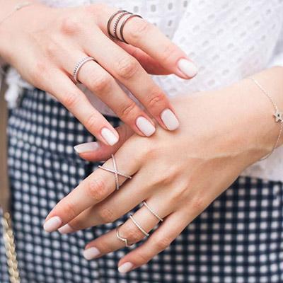 ASTRID&MIYU英國潮流品牌 交叉水鑽可調節戒指 玫瑰金