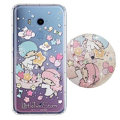 正版雙子星 HTC U11+/U11 Plus 夢幻童話 彩鑽氣墊保護殼(星光水...