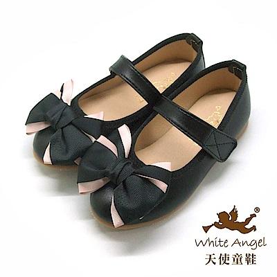 天使童鞋 清新優雅公主鞋(中-大童)JU831-黑