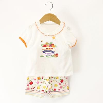 愛的世界 MYBABY 純棉水果百匯公主袖套裝/3~6歲