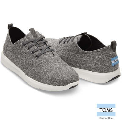 TOMS 鐵灰亞麻織紋休閒鞋-男款