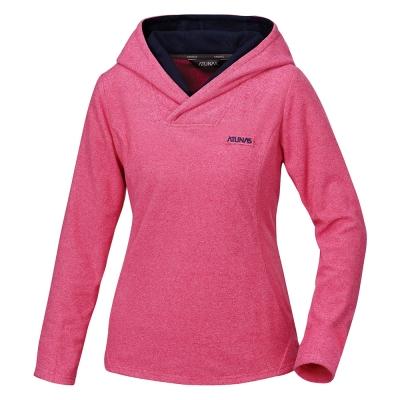 【ATUNAS 歐都納】女款平價奢華長袖透氣排汗保暖連帽衫 A1-P1531W 桃粉