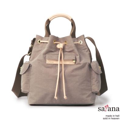 satana-小抽繩水桶包-松樹皮
