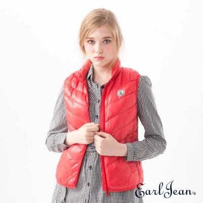Earl Jean 超輕量立領羽絨背心-紅-女