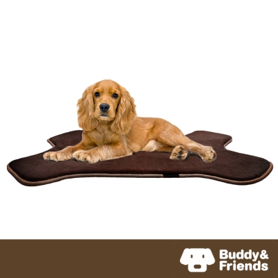 【Buddy&Friends】寵物骨頭造型墊 深咖啡M (61x91cm)