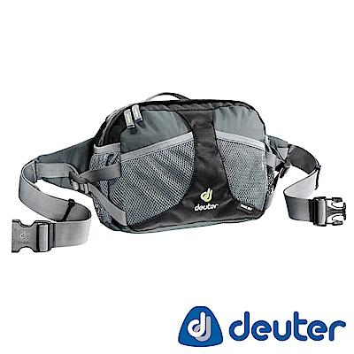 【ATUNAS 歐都納】德國DEUTER多層收納空間旅遊輕便隨身腰包/斜背包39030黑灰