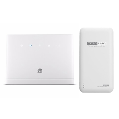 HUAWEI華為 4G上網行動/家用兩用特惠組 (B315S+TOTO行電TB10000)
