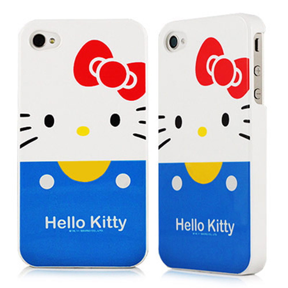 HELLO KITTY for iPhone  4S/4 保護殼-經典藍
