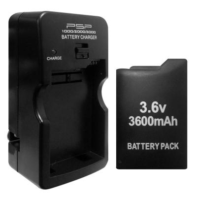 PSP (1007)厚機 可折式充電器+3600mAh充電電池
