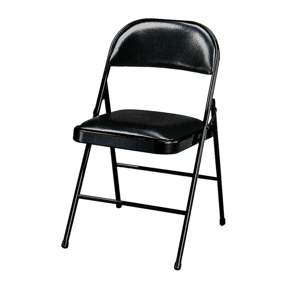 H&D 黑皮H型橋牌椅 (寬47X深50X高75cm)