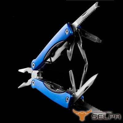 韓國SELPA 11合一多功能萬用工具組 藍 鉗子 一字起子 開瓶器 錐子 指甲刀 瑞士刀