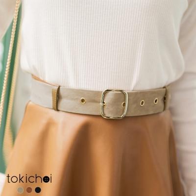 東京著衣 多色質感麂皮細腰帶(共三色)