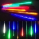 聖誕燈裝飾燈LED流星燈串8條燈(四彩光插電式/單燈長50cm) product thumbnail 1