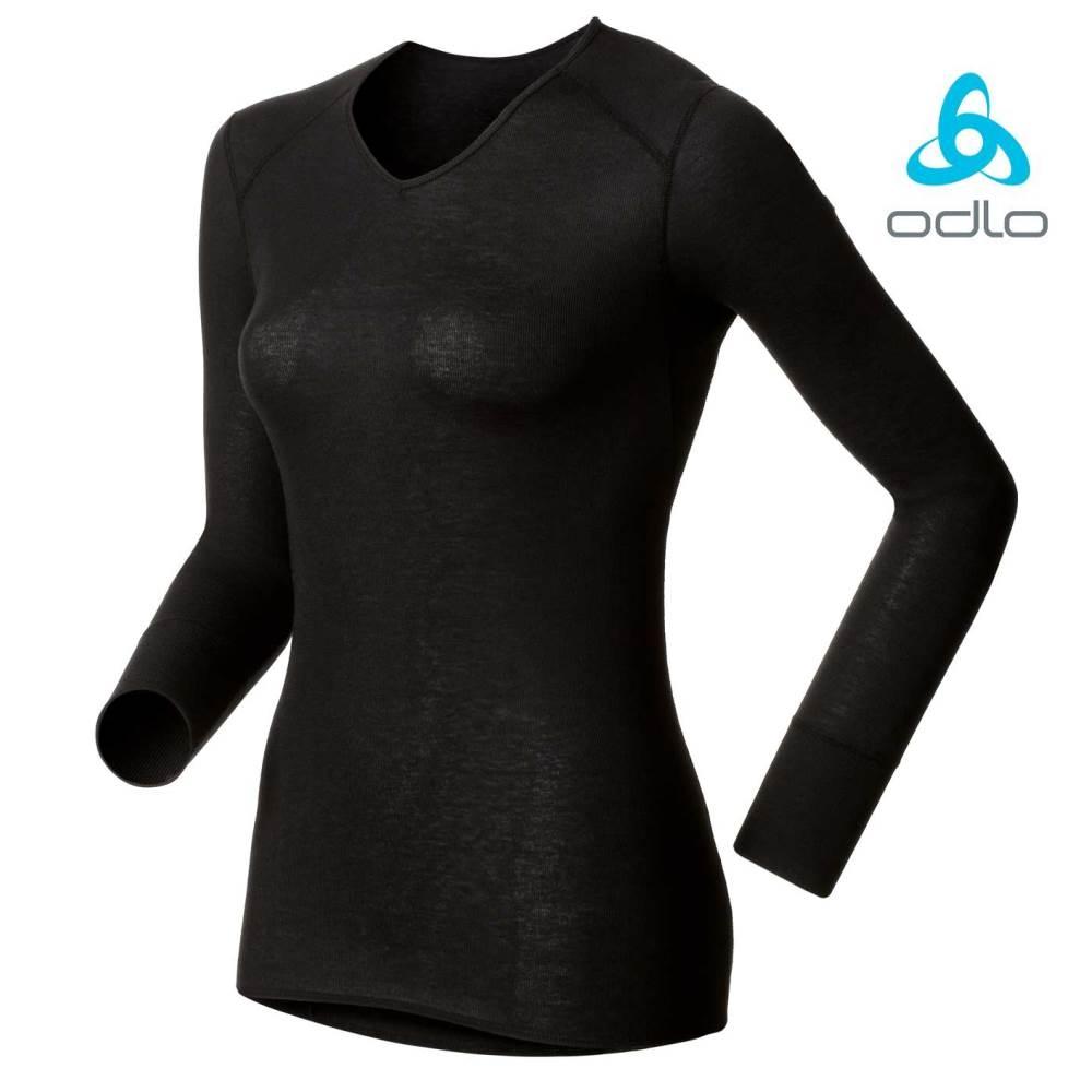 ODLO V領機能保暖型排汗內衣 女 黑
